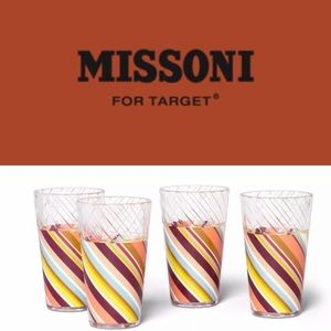 Missoni For Target 20th Anniversary 4 Striped Cups